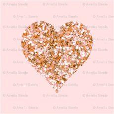 glitter rose gold heart wallpaper gold glitter hearts blush fabric willowlanetextiles spoonflower