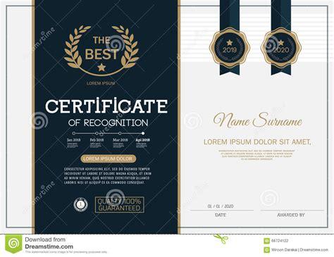 certificaat van van het het ontwerpmalplaatje van het