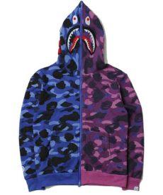 bape sweater cheap new bape shark splice greem camo black hoodie with big discount don t miss