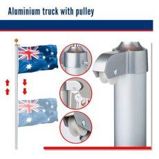 flagpole pulley kit 7 6m australian flag pole kit aussie flag pulley system aluminium flag pole set