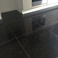 black starlight quartz tiles savings at buytiles - Black Sparkle Floor Tiles 600x600