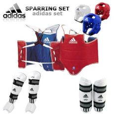 adidas taekwondo kit adidas tkd approved taekwondo sparring gear set free guard ebay