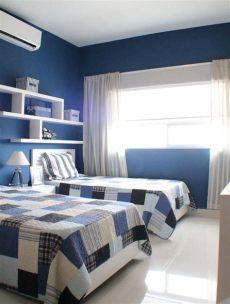 recamara infantil con dos camas para ni 241 o en color azul decoracion dormitorios infantiles - Imagenes De Recamaras Para Ninos Varones