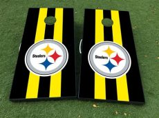 steelers cornhole decals product pittsburgh steelers board decal vinyl wraps with laminated