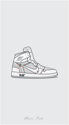 nike off white jordan 1 drawing air 1 x white iphone wallpaper vintage sneakers wallpaper graphic design inspiration