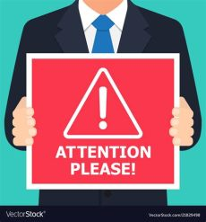 attention please picture alert signs attention royalty free vector image