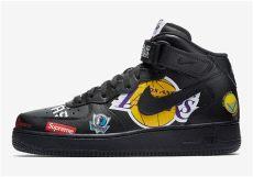 air force 1 high supreme nba supreme nike air 1 mid black nba logos aq8017 001 sneakernews