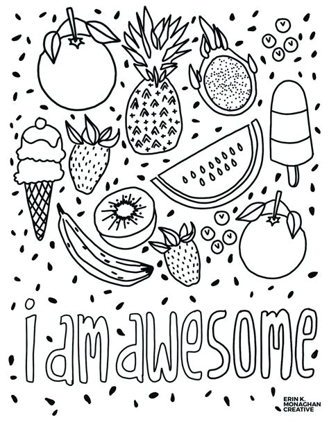awesome coloring sheet growth mindset kids