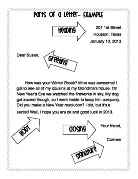 friendly letter template vocabulary worksheets vanessa crown