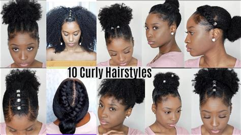 10 quick easy hairstyles natural curly hair instagram