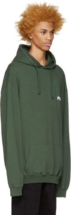 vetements green polizei hoodie lyst vetements green polizei hoodie in green for