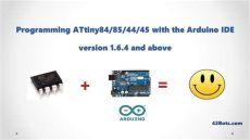 attiny84 arduino ide programming attiny ics with an arduino uno and the arduino ide