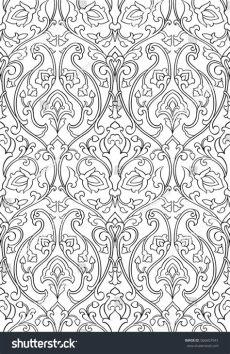 filigree wallpaper pattern black white floral pattern seamless filigree stock vector 566657941