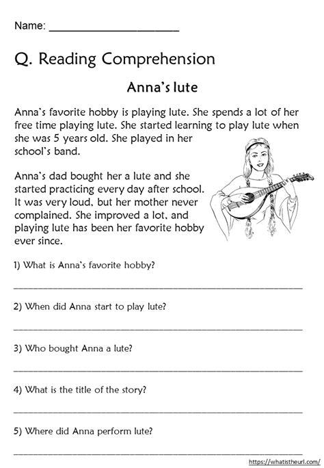 reading comprehension worksheets grade 3 home teacher