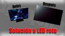 como arreglar televisores led como arreglar un tv led roto