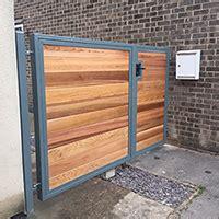 wooden clad gates sheffield garden gates company gates sheffield - Metal Framed Wooden Gates Sheffield