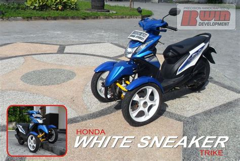 honda beat reverse trike sepeda motor