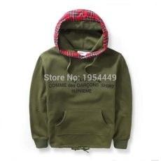 comme des garcons shirt supreme hoodie 2015 new 15 16 comme des garcons shirt supreme camouflage scotland lattice hoodie hiphop