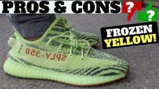 yeezy 350 v2 semi frozen yellow on foot pros cons adidas yeezy boost 350 v2 semi frozen yellow review on