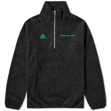gosha rubchinskiy adidas fleece zip up sweater gosha rubchinskiy x adidas zip fleece black end