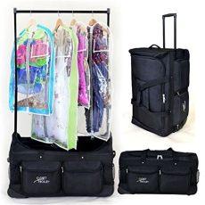 dance bag with clothes rack closet trolley bag with garment rack black duffel buy in uae apparel