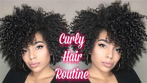big curly hair routine wash short medium length