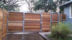 metal gate frame for horizontal wood fence custom wood fence tx horizontal cedar picket fences fence inc