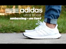 adidas ultra boost on feet white adidas ultra boost white unboxing on