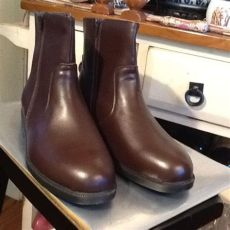 haband mens slippers s sz 12 d haband executive division brown leather dress boots 7 quot height ebay