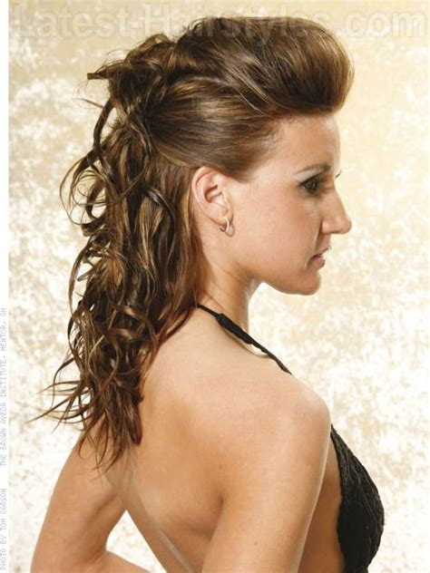 sleek curly updo hairstyle volume winter beauty ideas