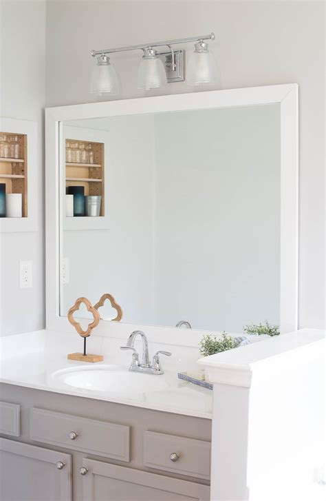 frame bathroom mirror easy diy project