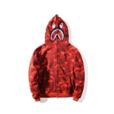 bape red camo shark hoodie bape a bathing ape zipper shark jaw camo hoodie sweatshirt coat jacket ebay