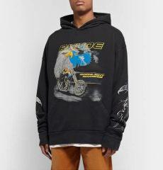 rhude racer hoodie rhude oversized printed loopback cotton jersey hoodie in black modesens