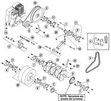 bluebird aerator parts bluebird h424 2005 04 parts diagram for power tine rotor assembly