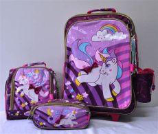 mochilas de unicornio en walmart mochila escolar unic 243 rnio kit grande r 309 99 em mercado livre