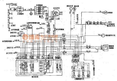 mitsubishi pajero light road vehicle circuit dashboard wiring