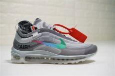 air max 97 x off white grey virgil abloh white x nike air max 97 in wolf grey rainbow swoosh