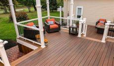 vinyl deck flooring price best decking material wood vinyl or composite deck material options