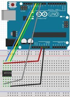 attiny13a arduino programming how to program attiny13 attiny13a using arduino ide electronics lab