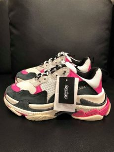 balenciaga triple s sneakers womens balenciaga black s sneaker womens pink leather speed flat trainer sneakers size eu 37