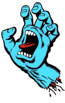 screaming hand stencil screaming logo design for santa skateboards by jim phillips 그래피티 일러스트레이션 및 그림