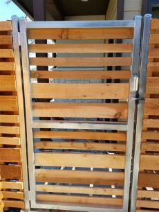 custom wood fence tx horizontal cedar picket fences fence inc - Metal Gate Frame For Horizontal Wood Fence