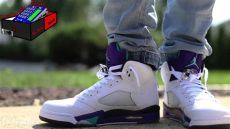 air 5 grape on - Air Jordan 5 Grape On Feet
