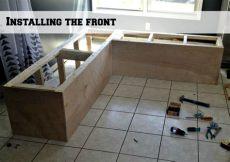 corner storage bench diy remodelaholic build a custom corner banquette bench
