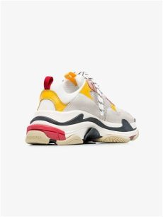 balenciaga pink white triple s sneakers balenciaga white pink and yellow s leather sneakers lyst