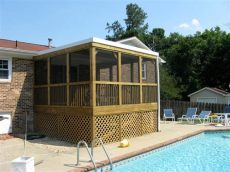 screened porch raleigh home improvement contractor raleigh - Flat Roof Screened Porch Plans
