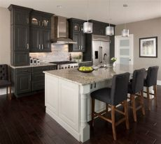 light oak cabinets with dark granite cherry oak cabinets for the kitchen ideas