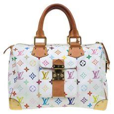 louis vuitton white multicolor purse buy louis vuitton white multicolor monogram canvas speedy 30 bag 76308 at best price tlc