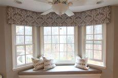 bay cornice board window treatments living room bay window living room kitchen window dressing - Bay Window Cornice Board