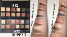 master palette by mario dupe impression review on bad habit quot artistry quot eyeshadow palette master palette by mario dupe